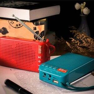 Image 3 - محمول راديو FM مصغرة الشمسية بلوتوث 5.0 المتكلم مع مصباح ليد جيب دعم يدوي TF بطاقة U القرص مشغل MP3
