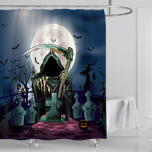 Halloween Bad Gordijnen Gordijnen Scary Grave Pompoen Ghost Douchegordijn Waterdicht Polyester Badkamer Stof Voor Art Decor(China)