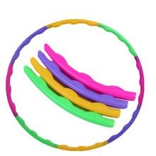 Съемный спортивный обруч, Детский круг для упражнений, пластиковый массажный деконструируемый Гимнастический обруч