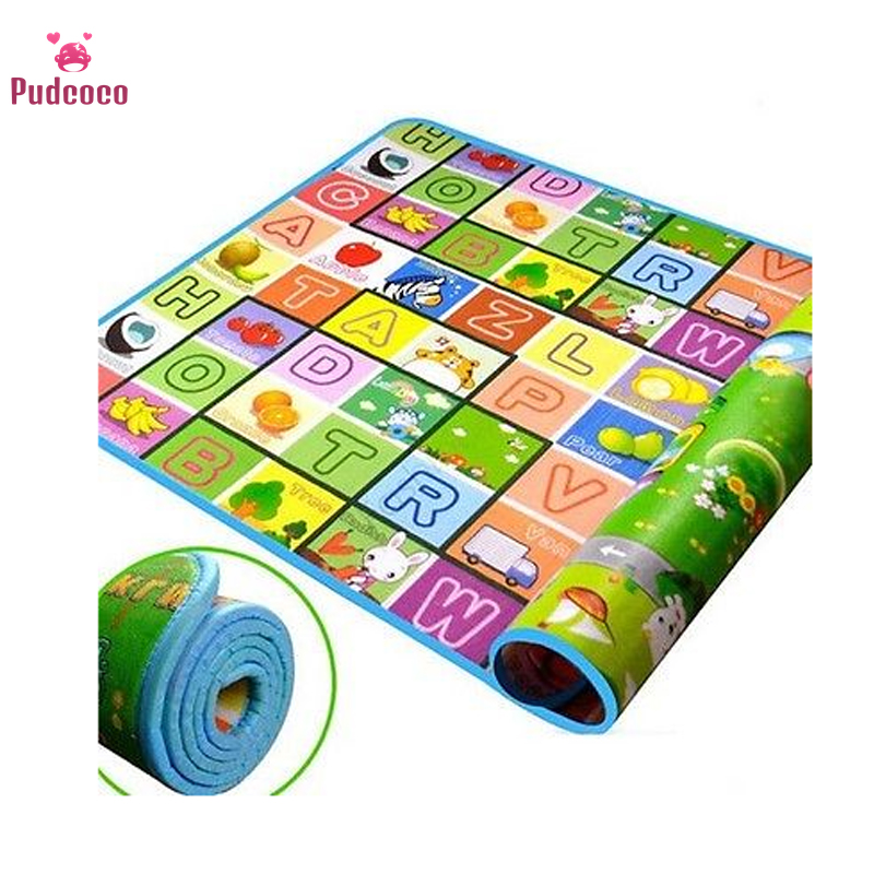 Pudcoco Play Mats For Baby Kid Toddler Cute Crawl Play Game Picnic Carpet Letter Alphabet Farm Mat Funny Play Mats Tapis Enfant