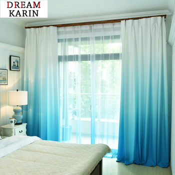 Gradient Curtains for Living Room Bedroom Window Tulle Sheer Curtains and Blackout Curtains Decorative Panel Fabric Drapes beige polyester flannel europe embroidered blackout curtains for living room bedroom window tulle curtains home hotel villa