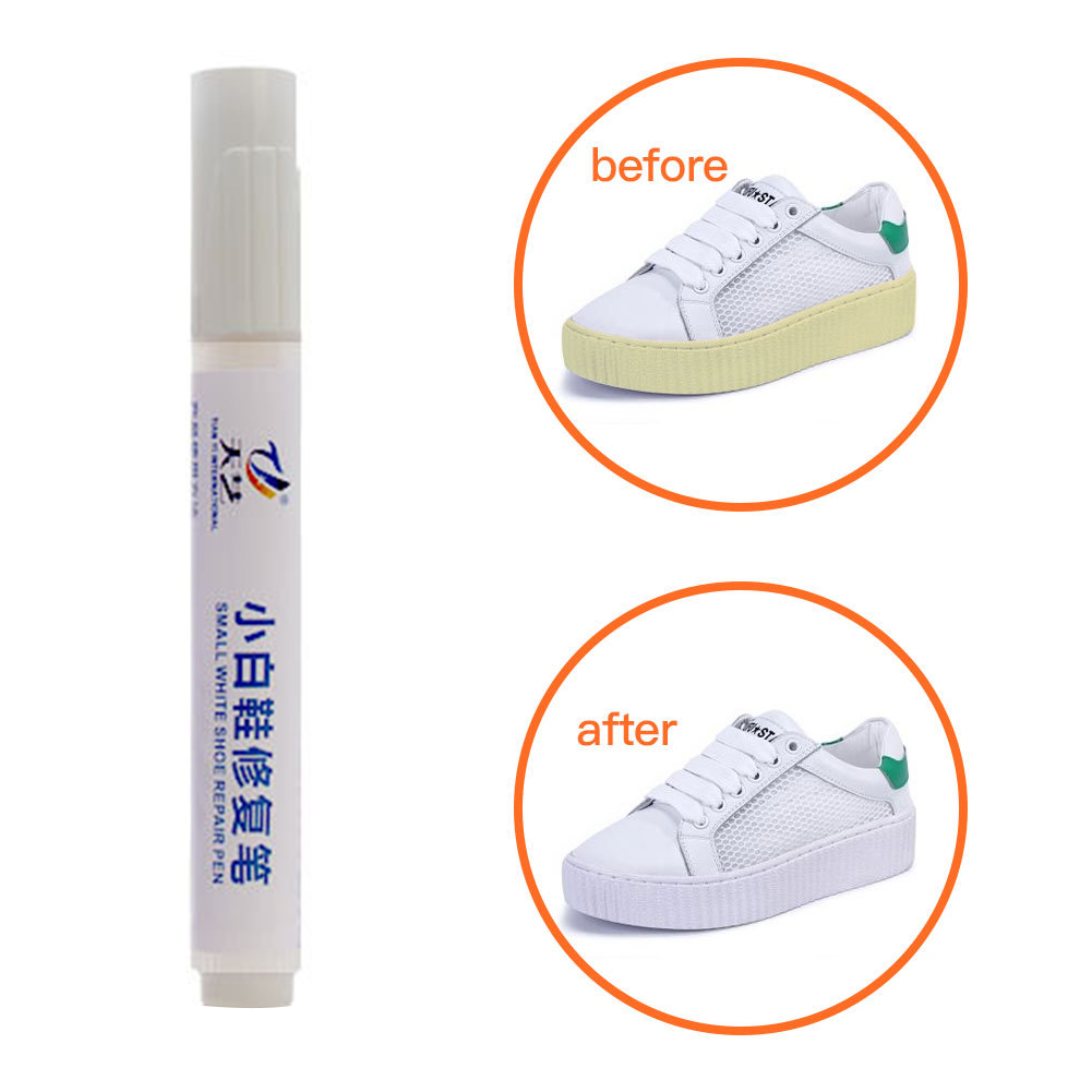 Shoes Stains Removal Waterproof Cleaning Pen Repair Durable Cleaning Pen Shoes Yellow Edg E Laundry Marker WHITE Fabric Pen