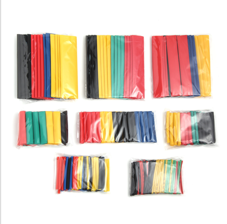 164 pces conjunto polyolefin encolhendo sortido tubo de psiquiatra de calor cabo de fio isolado sleeving conjunto de tubos clh @ 8 Luvas de cabo    -