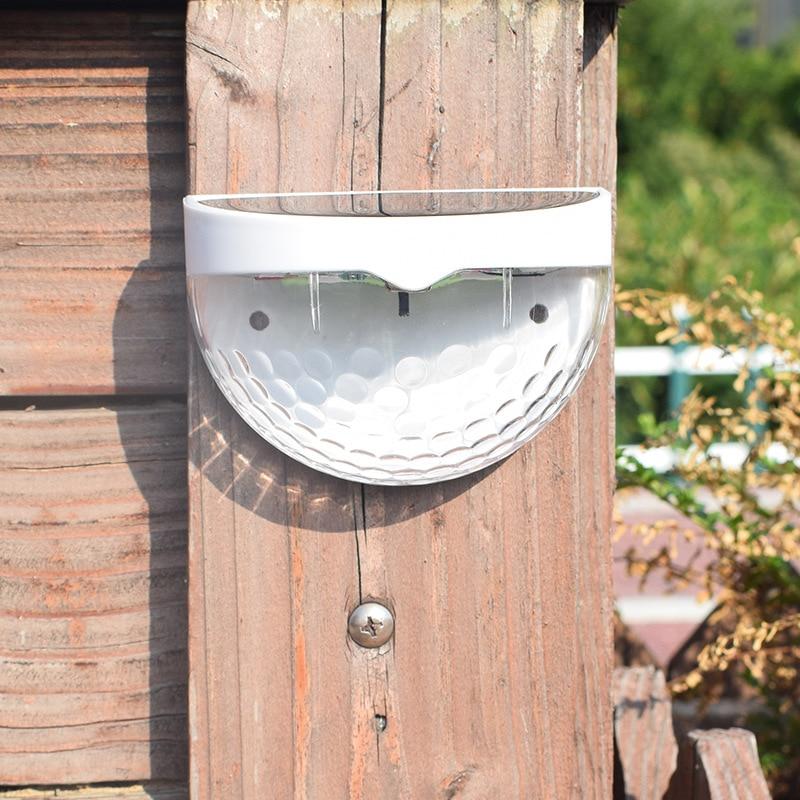 LED Solar Fence Light Outdoor Waterproof Semi-circular Trapezoidal Lamp Garden Wall Lamp Courtyard Solar Lamp