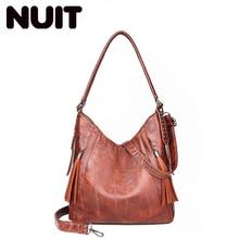 купить Female Luxury Single Shoulder Bags Pu Leather Women Designer Large Capacity Ladies Bucket Bags Female Bags Casual Tote Bag по цене 1085.09 рублей