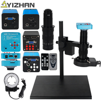 HD 13MP 60FPS 16MP hdmi vga Microscope sets 180X C mount lens Industrial Microscope Camera Big Workbench Stand For phone repairs