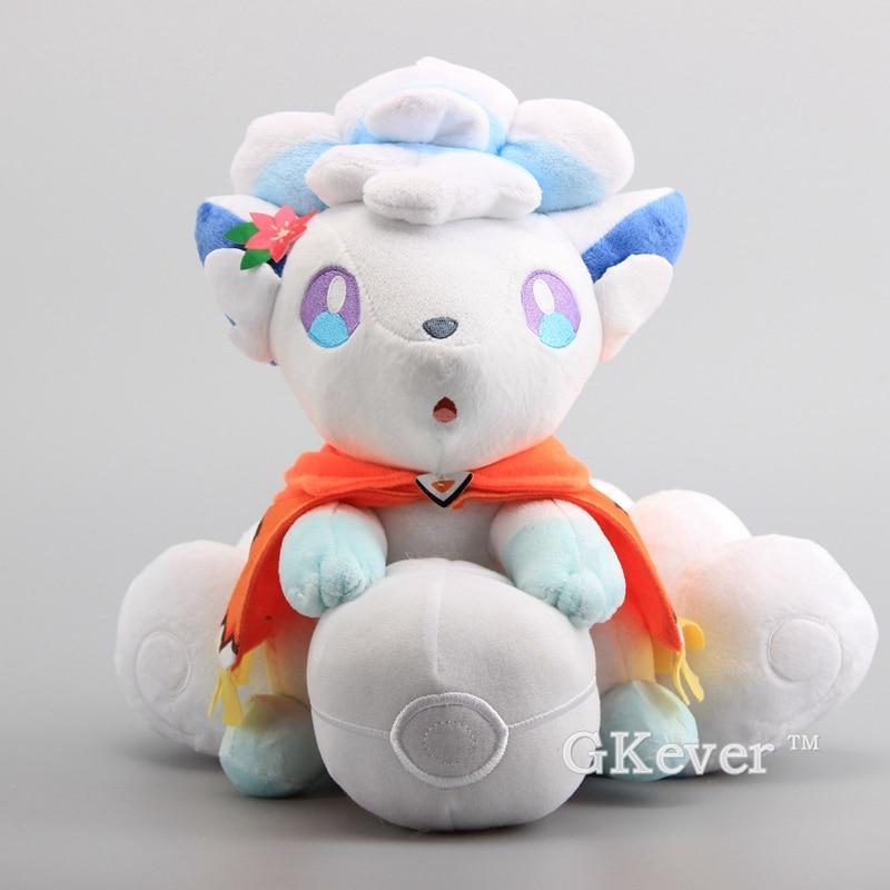 30cm Anime Alola Vulpix Plush Toys Doll Peluche Big Size Fox Stuffed Animals Toys Pikachu Eevee Series Dolls Wome Kids Gift