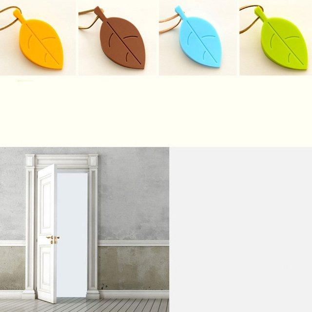 Creative Home Leaves Door Stop Stopper Door Wedge Baby Safety Doorstop Wedge Finger Protector for Home Garden Office 3