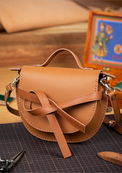 Bag semi-finished leather mini shoulder bag Messenger bag handmade leather diy material bag women bag  handbag