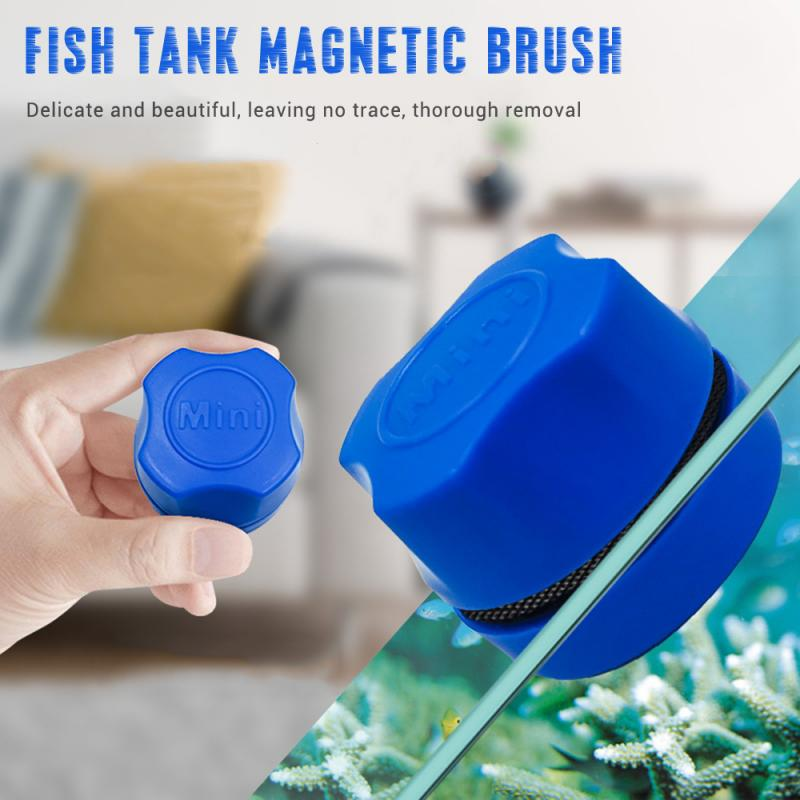 Aquarium Fish Tank Magnetic Clean Brush Glass Floating Algae Scraper Window Cleaning Magnet Curve Glass Cleaner Scrubber Tools