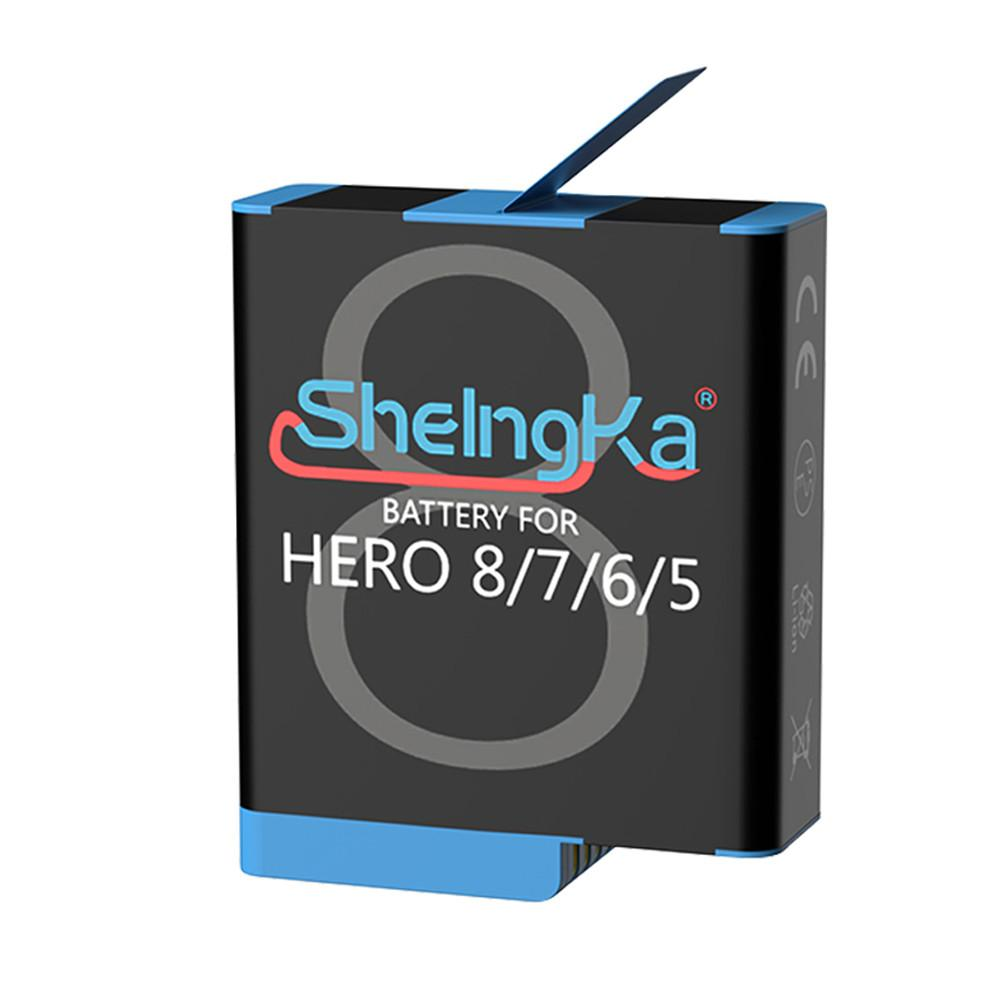 1 Pc Original SheIngKa 1220mAh Large Capacity Battery Sports Camera Replacement Batteries for Gopro Hero 8 7 6 5 Accessories