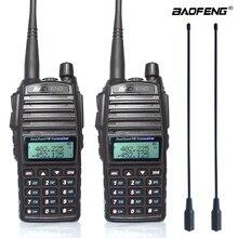 2 قطعة/المجموعة 8W الأصلي المحمولة اتجاهين راديو UV 82 المزدوج PTT راديو BaoFeng UV 82 مزدوج النطاق اتجاهين جهاز الإرسال والاستقبال اللاسلكي + 771 هوائي