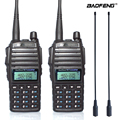 2pcs/set 8W Original Portable Two way Radio UV 82 Dual PTT Radio BaoFeng UV-82 Dual-Band Two way Radio Transceiver + 771 antenna