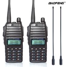 2pcs/set 8W Original Portable Two way Radio UV 82 Dual PTT Radio BaoFeng UV 82 Dual Band Two way Radio Transceiver + 771 antenna