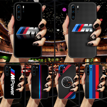 Bmw car logo Phone Case Cover Hull For Huawei P8 P9 P10 P20 P30 P40 Lite Pro Plus smart Z 2019 black cover painting shell pretty image