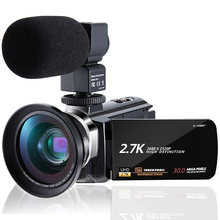 KOMERY 2.7K Video Camcorder Cheap Handycam 30MP Touch Screen