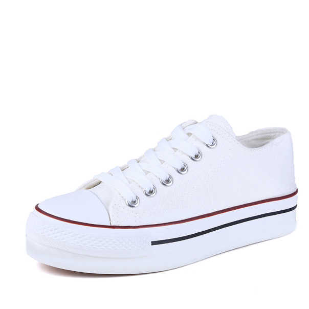 2019 Hot Women Summer Canvas Fashion Breathble Vulcanized Shoes Lace Up Women Casual Tenis Feminino Zapatos De Mujer