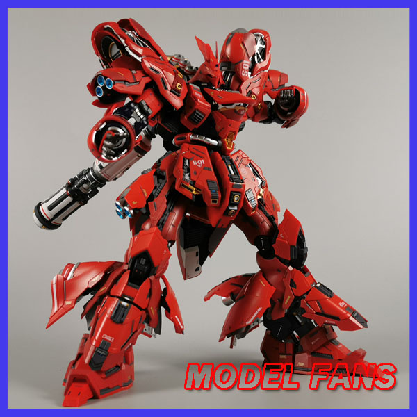 MODEL FANS IN-STOCK Jianggao Model MB Metalbuild GUNDAM 1/100 SAZABI Alloy Contain Led Light Action Robot Figure Toy