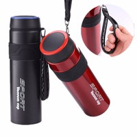 Large capacity sports bottle 1000ML outdoor mountaineering travel stainless steel vacuum flask portable insulation pot|Water Bottles|   -