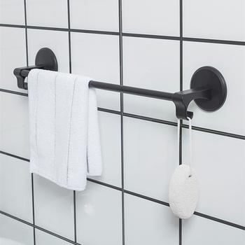 Nordic wieszak na ręczniki wieszak na ręczniki do montażu na ścianie wc wieszak na ręczniki pojedynczy pręt mocna pasta hak wieszak na ręczniki uchwyt papier toaletowy ręcznik łazienkowy wiszące 4 kolor tanie i dobre opinie Typ ścienny B8310 Nordic Towel Rack 46 5*7 5cm Bathroom Kitchen Living Room Wall Mounted Type Bathroom Towel Stand Rack