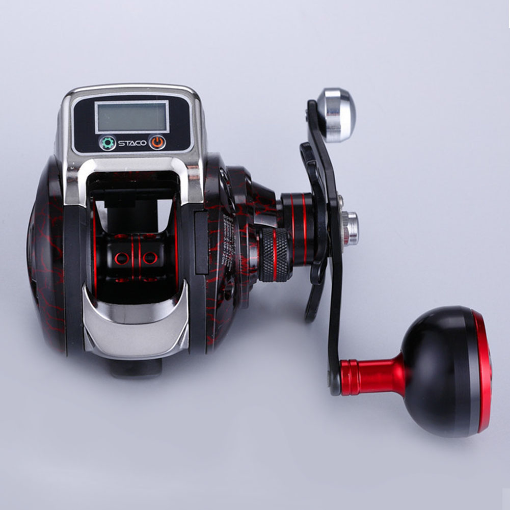 Fishing-Reel Display Hand-Spinning High-Strength-Tools Spool 15-Ball-Bearing Digital
