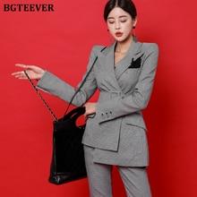 BGTEEVER Fashion Irregular Sashes Belt Women Pant Suit Plaid