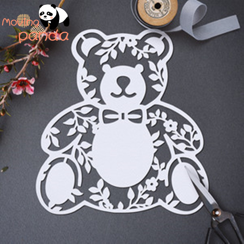 Hollow BEAR Metal Cutting Dies New 2019 for Craft Dies Scrapbooking for Card Making Album Embossing Paper Stencil Decor(China)
