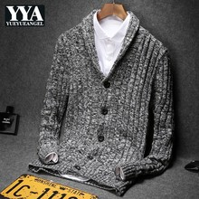 Autumn Slim Cardigan Sweater Men Jacket England Style Solid Color Long Sleeve Knitted Sweaters Plus Size 5XL Casual Sweatercoat