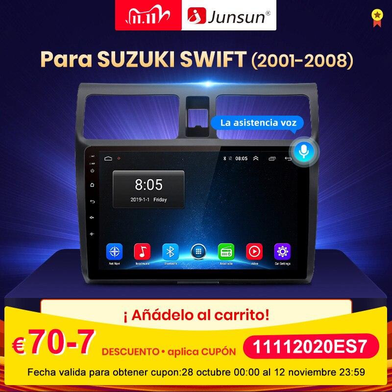 (11.11CÓDIGO11112020ES7)Junsun V1 4G + 64G Android 10 Radio Auto Pantalla RDS Carplay Para Suzuki Swift 2001-2008 Multimedia Bluetooth GPS Navegación