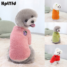 Dog-Sweater Winter Autumn Soft Warm Hptyfd Velvet Cozy Colorful Double-Faced