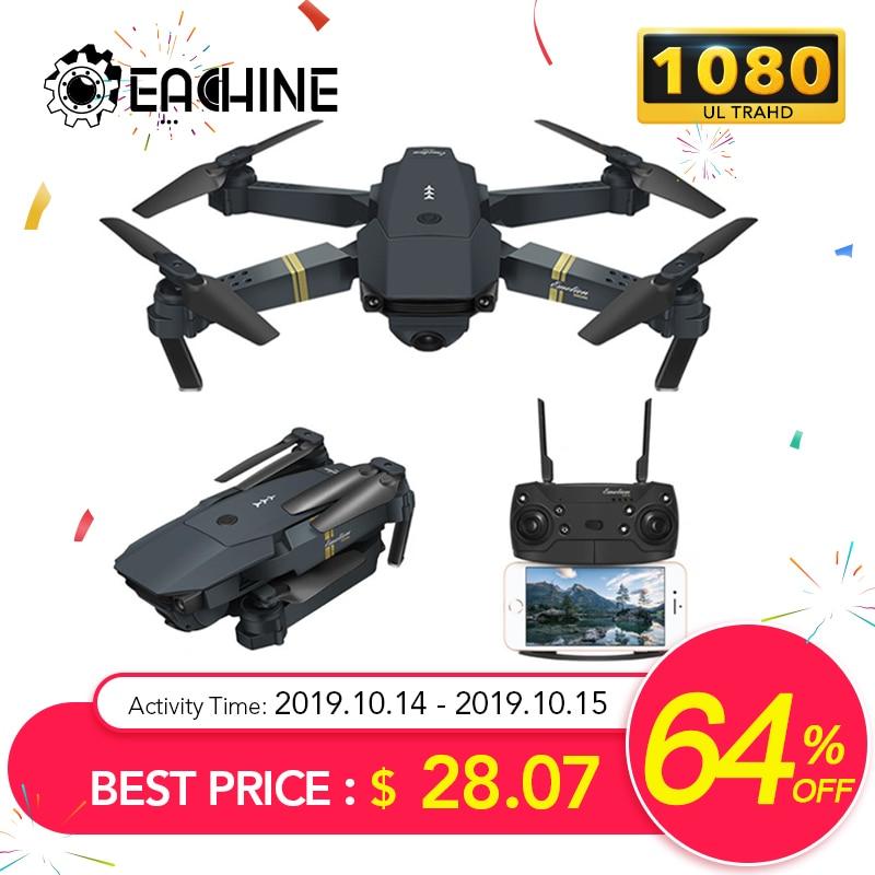 Eachine E58 WIFI FPV Com Wide Angle HD 1080P Camera Hight Modo Hold Dobrável Braço RC Quadcopter Drone X Pro ORKUT Dron Para O Presente