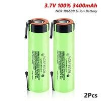 Nuova batteria ricaricabile al litio YCDC 18650 3.7 v 3400 mah NCR18650B scarica 20A con linguette in nichel fai-da-te per batterie torcia