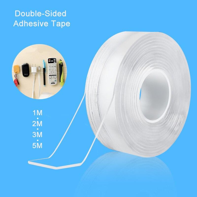 Ev Dekorasyonu'ten Bant'de Traceless bant 1/2/3/5m yeniden çift taraflı yapıştırıcı Nano bantlar çıkarılabilir etiket yıkanabilir yapıştırıcı döngü diskleri kravat tutkal title=