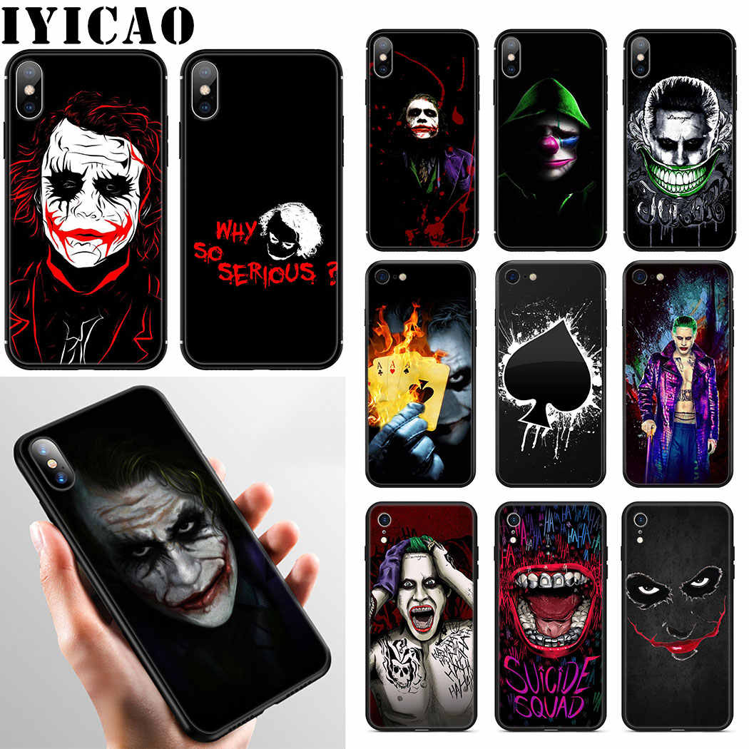 IYICAO Joker Caso Soft Phone para iPhone XR X XS Max 6 6S 7 8 Plus 5 5S SE cobrir