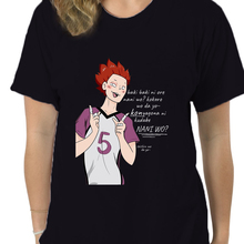 T-Shirt Vintage Haikyuu Crewneck Tendou Short-Sleeve Japanese Anime Big-Size Cotton No