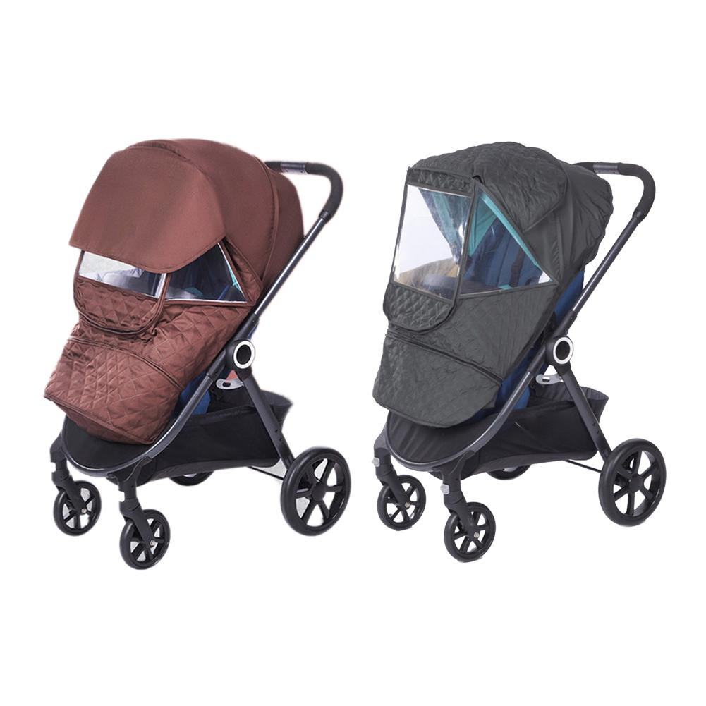 Universal Size Baby Stroller Thicken Warm Cover Rainproof Windproof Snow-Proof Dust- Proof Sunshade Waterproof Cover Accessorie