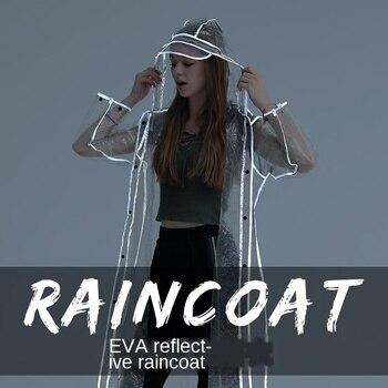 Transparent Raincoat Adult Thick Fashion Couple Rainwear EVA Men Raincoats Transparent Women Rain Coat Adult Hiking Rain Poncho