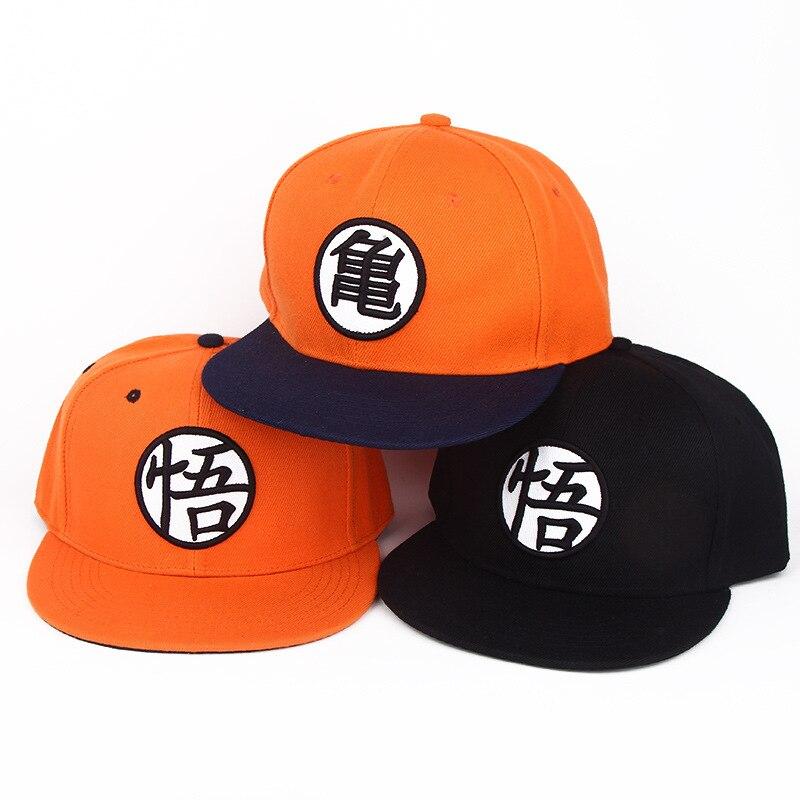 Fashion Adjustable Dragon Ball Z Goku Baseball Cap Japan Anime Hat Flat Costume Snapback