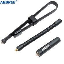 ABBREE Gooseneck taktik anten SMA Female144/430Mhz katlanabilir Walkie Talkie Baofeng UV 5R UV 82 BF 888S amatör radyo