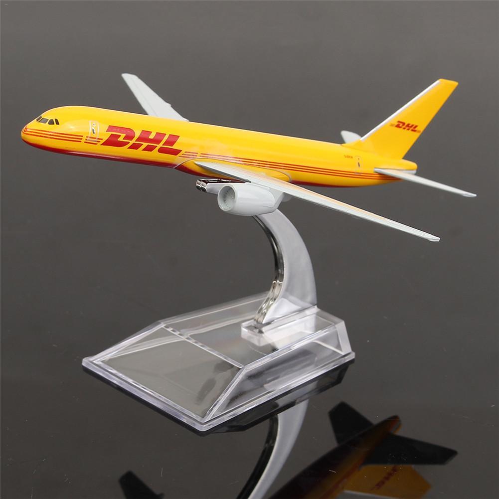 B757 DHL Kargo 16CM Metal Airplane Model Plane Model Aircraft Model Building Kits Toy For Children