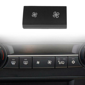 Decal AC Button Trim Cover Interior For BMW X5 E70 X6 E71 Black Car Auto Heater Climate image