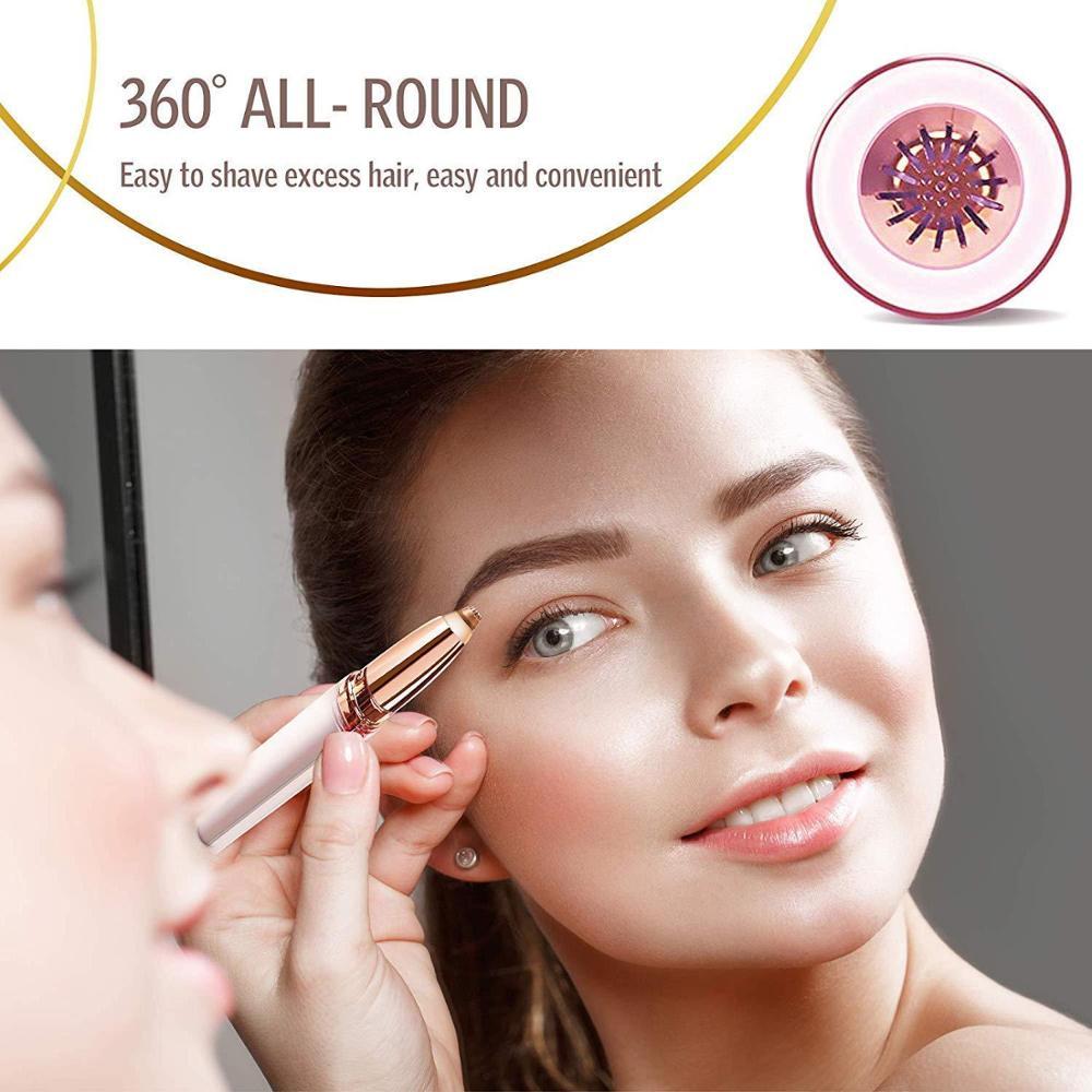 New Design Electric Eyebrow Trimmer Makeup Painless Eye Brow Epilator Mini Shaver Razors Portable Facial Hair