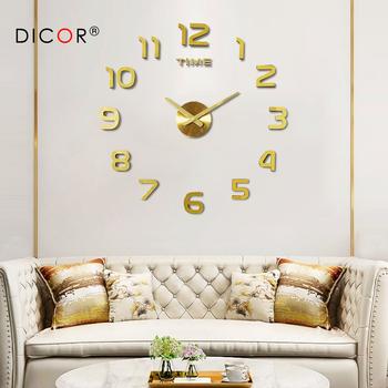 DIY 12v cyfrowy duży zegar ścienny lustro do dekoracji domu zegar naklejany na ścianę winylowy nowoczesny Design zegar na ścianie do salonu tanie i dobre opinie Akrylowe Streszczenie Igła 120cm Wyciszenie głośnika Zegary ścienne Pojedyncze twarzy Wielu częściowy zestaw 1200mm
