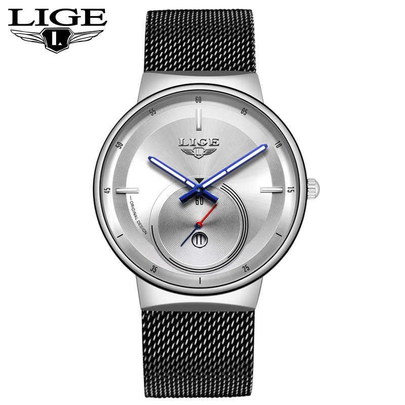 ליגע חדש Mens שעונים למעלה מותג יוקרה אופנה עסקי קוורץ שעון גברים פשוט עמיד למים ClockVariety של סגנונות reloj hombre