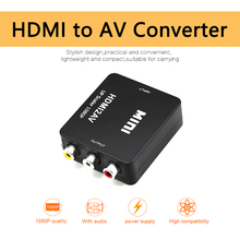 HDMI2AV Converter HDMI TO RCA AV แปลงคอมโพสิต AV 3 RCA วิดีโออะแดปเตอร์ MINI NTSC PAL สำหรับทีวี VHS VCR DVD