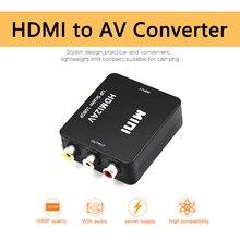Konwerter HDMI2AV konwerter HDMI na RCA AV kompozytowy AV 3 wyjście RCA adapter wideo Mini NTSC PAL do telewizora VHS magnetowid DVD