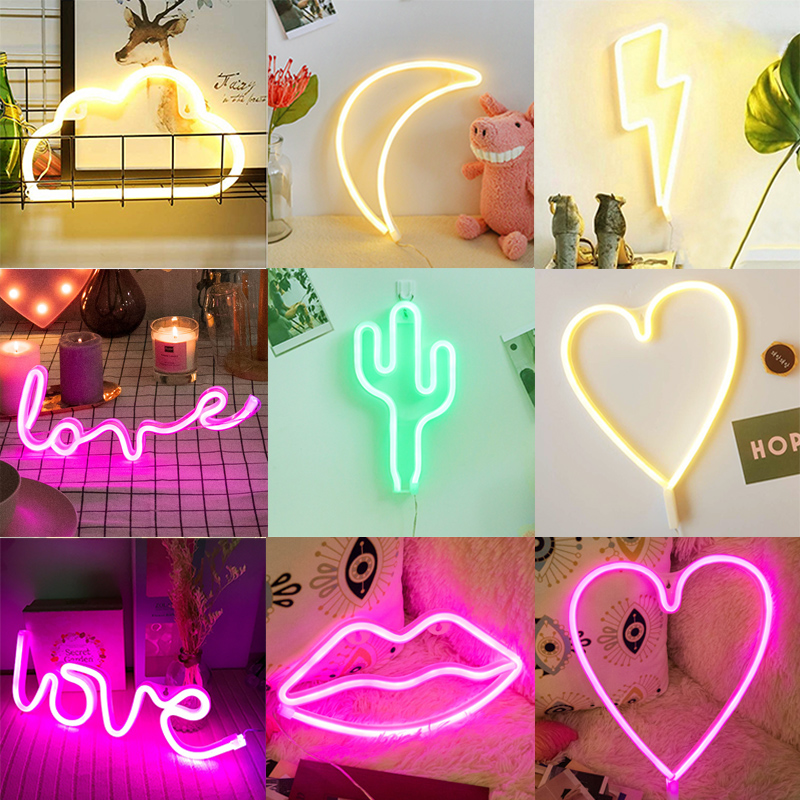 Creative LED Neon Decoration Love Light Trunk Surprise Birthday Creative Confession LOVE Light Net Red Light Small Lighting