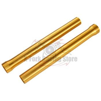 цена на Front Outer Fork Tubes 1 Pair For YAMAHA R6 2008-2015 2009 2010 2011 2012 2013 2014 Golden Fork Pipes