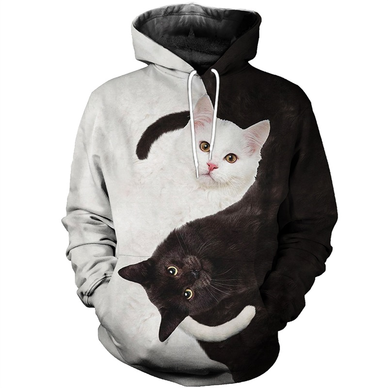 Zogaa Hot Sale Men Women Yinyang Cat Racing Limited Edition 3d Zipper Hoodies Long Sleeve Sweatshirts Jacket Pullover Tracksuit