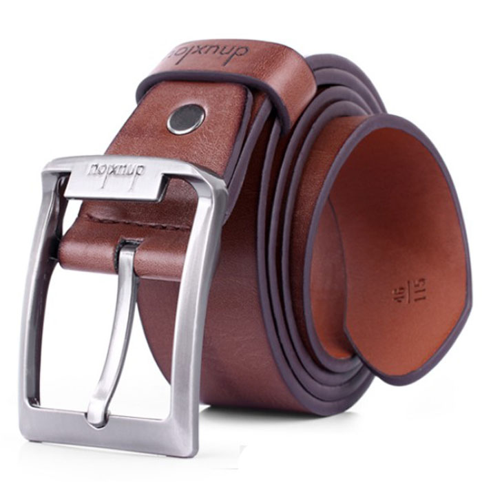 Men/'s Luxury Genuine Leather Alloy Automatic Buckle Waistband Belts Waist Strap